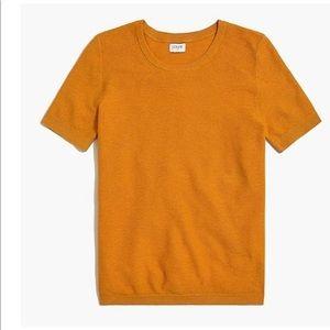 Short-sleeve textured sweater - XXL